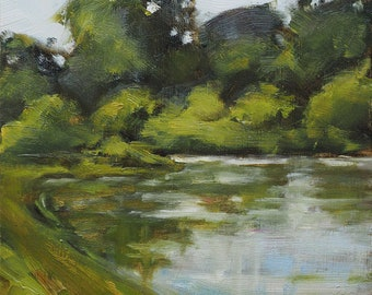 By the Lake - Oil painting, impressionism, art,