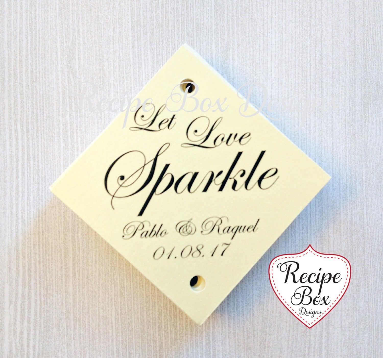 Let Love Sparkle, Wedding Sparkler Tags, Sparkler Tags, Let Love ...