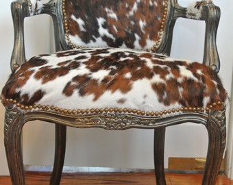 Classic Cowhide French Chair