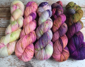 PREORDER - Five Skein Fade Kit #5 - Hand Dyed Yarn