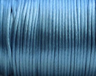 10 yards 2mm  Denim Blue Satin Rattail Cord