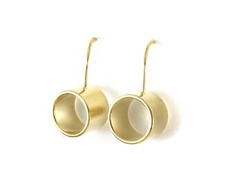 Birdhouse Jewelry - Empty Gold Earrings