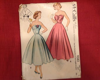 McCall's Pattern 9583 in Size 12 (Old Sizing) from 1953