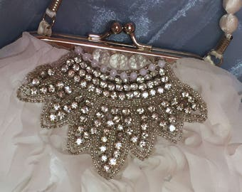 White Wedding Purse and or Clutch