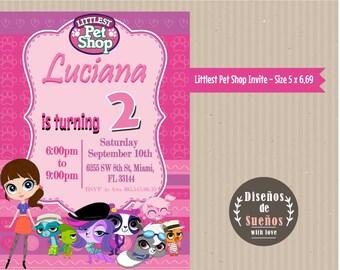 Littlest Pet Shop Invitation, Custom Invitation, Littlest Pet Shop Birthday, Littlest Pet Shop Printable, Littlest Pet Shop Party