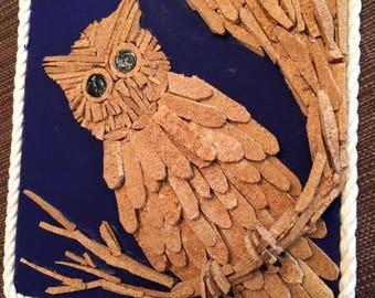 Cork art owl