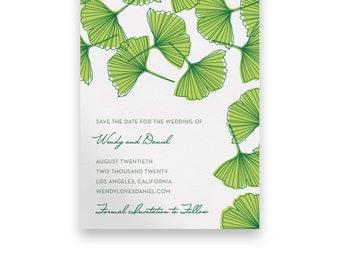 Garden Wedding Save the Date/Wedding STD/Wedding Save The Dates/Save-The-Date/Green/Script/Floral/Greenery/Summer/Spring