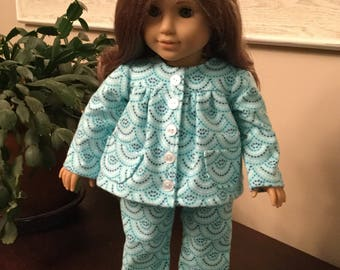 """Flannel PJ's for 18"""" dolls such as American Girl"""
