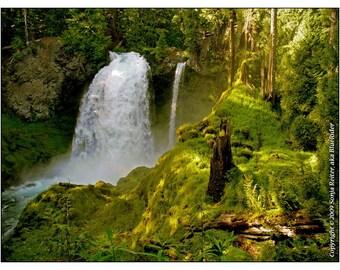 Sahalie Falls, Oregon, MYSTICAL ENCHANTMENT, Sonja L.Reiter art print