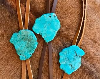 Turquoise Slab Bolo Necklace