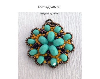 Deneb Pendant - Beading Pattern/Tutorial - PDF file for personal use only