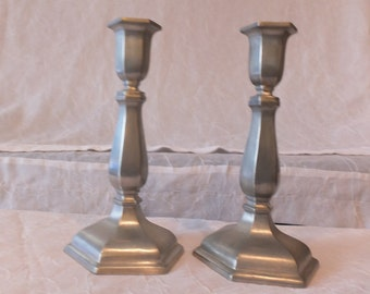 Vintage Set Silver Candlestick Holders
