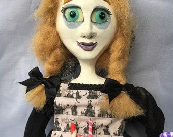 Gretel, art doll, gothic, haunted