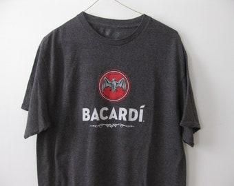 Bacardi alcohol logo t-shirt shirt Adult Mens Large