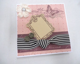 Romantic French Themed Accordian Album