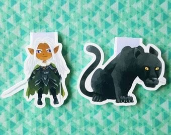 Drizzt Duo Magnetic Mini Bookmark Set