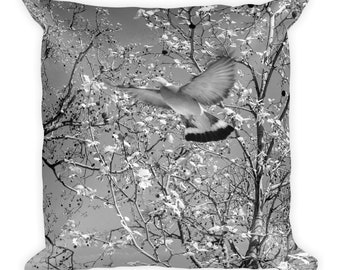 Bird in Flight, Paris Summer Square Throw Pillow, 1:100 Limited Edition