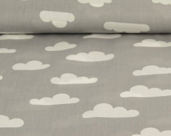 Printed Poplin / cloud grey / cut 25cm