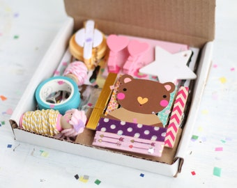 Crafty Gift Box, Happy Craft Box RANDOM, Happy Mail, Mystery Box, Wrap Or Packaging, Surprise Box, Craft Supplies, Gift Box Set