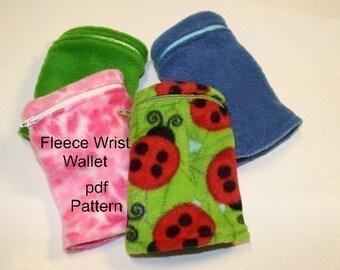 Fleece Wrist Wallet pdf Sewing Pattern