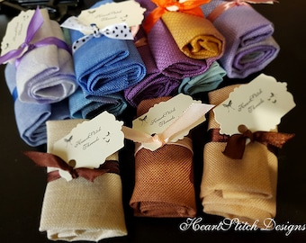 Bonbons by HSD - samples of 4 hand dyed fabrics