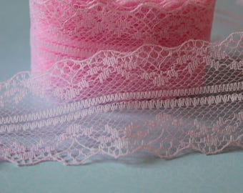 Beautiful ribbon rose and delicate lace