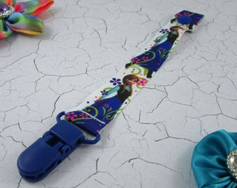 Dummy Clip / Pacifier Strap - Anna Frozen