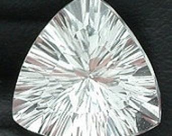 9mm laser concave trillion  triangle white topaz  gem