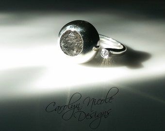 Bezel Ring (Tourmalated Quartz and White Sapphire)