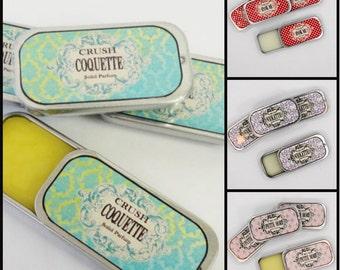 Solid  Perfume Coquette Light Citrus Lavender Bergamont Organic Essential Oils Vegan Base