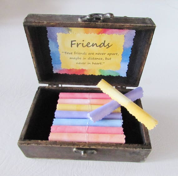 Friend Gift, Friend Birthday, Friendship Quotes in Wood Box, Wine Quote, Friend Quote, Personalized Friend Gift, Friend Quotes, Best Friend