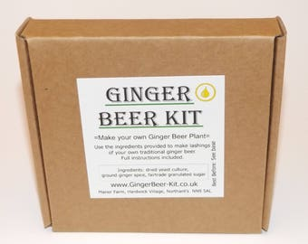 Ginger Beer Kits x 3 - make your own ginger beer soft drink - refreshment FREE UK DELIVERY