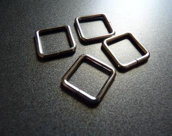 10 ties square metal 16 mm x16mm