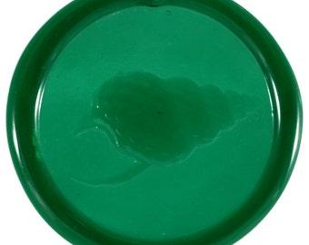 Shell Pressed Glass Suncatcher in Green