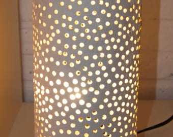 Handmade lamp, porcelain, custom made