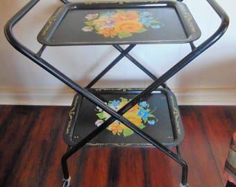 Vintage Folding Serving Table