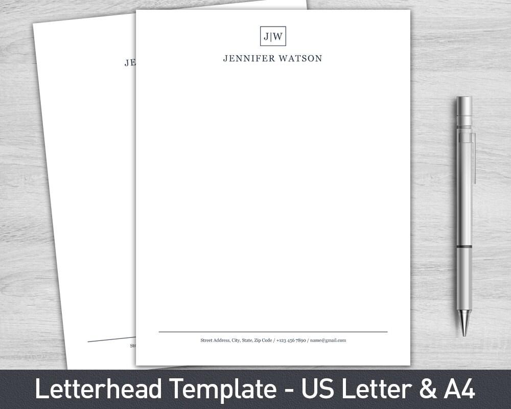 Popolare Modello di carta intestata per Word personalizzato carta FU17