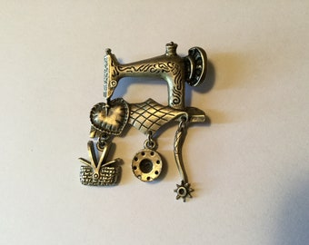 Sewing Machine Brooch Pin Seamstress Gift Sewing Decoration