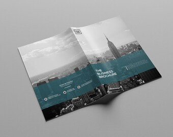 Corporate Brochure Template | Bifold Business Brochure | Photoshop Template | Instant Download