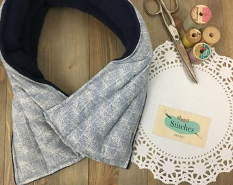 EXTRA LONG Microwaveable heating pad, XL Flax Seed Rice heating pad, Microwave neck wrap, Hot Cold Pack, Neck Warmer, Mother's day gift