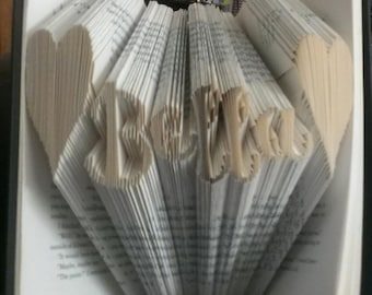 Folded Book Art - Bella