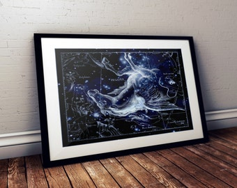 Pegasus Constellation Print, Astronomy Print, Constellation Art