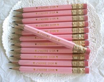 Mini Personalized Pencils, 24 Color Choices, Party Favors, Stationary