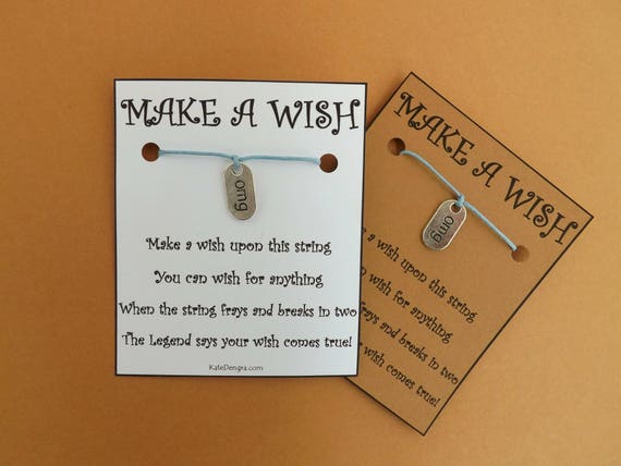 OMG Stamped Tag Wish Bracelet