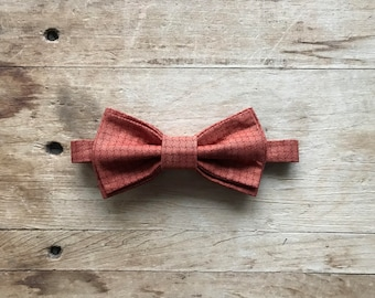 Simply Me • Gentlemen ~ Bow Tie ~ Burnt Orange ~ Handmade ~ Gift ~ Wedding ~ Prom ~ Homecoming ~ Special Occasion ~ Menswear