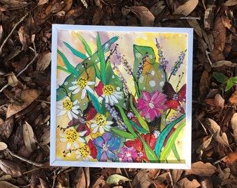 "Summer on my mind- 8x8"" - original acrylic painting"
