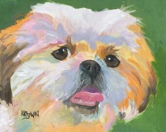 Shih Tzu Art Print of Original Acrylic Painting - 11x14 Dog Art