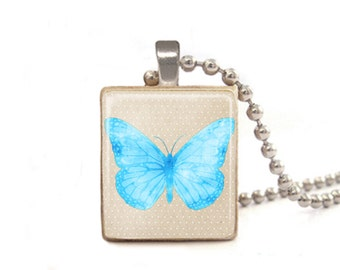 Blue Butterfly Necklace | Butterfly Charm | Butterfly Pendant | Bird Necklace | Animal Jewelry | Butterfly Jewelry | Graduation Gift
