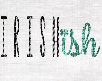 Girl St. Patricks Day Svg Cut File - Hipster Girl Svg Cut File - St. Pattys Day Svg Cut File - Irish Svg Cut File - Irishish Svg Cut File
