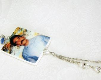 A Brides Something Blue Memory Photo Charm - Medium - BC2fa